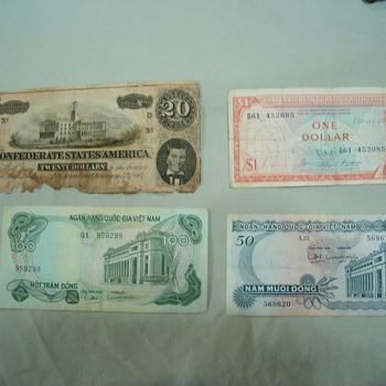 Confederate Money - US Paper Money
