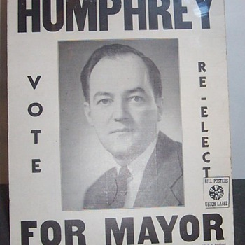 Humphrey For Mayor - Medals Pins and Badges