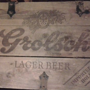 Grolsch Lager Beer in Wooden Crate