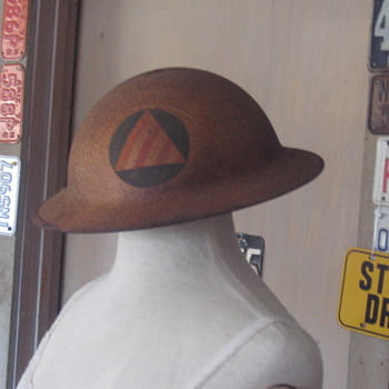 WWII Civil Defense Helmet - Military and Wartime