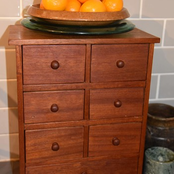 Old Mahogany Spice Cabinet - Furniture