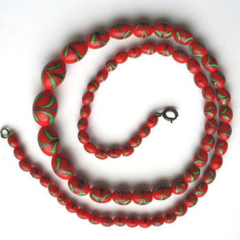 Czech 1920/1930s glass beads necklace - Costume Jewelry