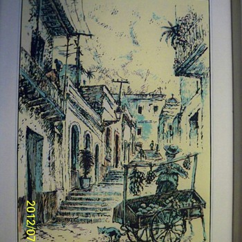 TWO PICTURES FREE AT A YARDSALE...NEED HELP >>> - Posters and Prints