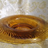 Amber Glass Dish With a Swirl Pattern - Need help to identify