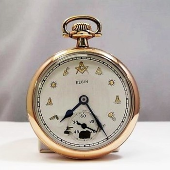 "1921 Masonic Dial ""Father Time"" Pocket Watch - Pocket Watches"