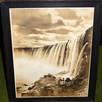 Black and White Photo of Niagara with surprise backing - Photographs