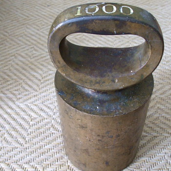 Old 1000 Ounce WEIGHT For Industrial Scale or Bronze Foundry BAR? - Tools and Hardware