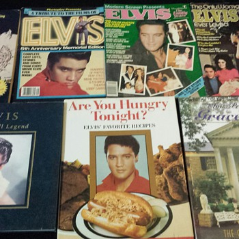 Elvis Presley magazines and books