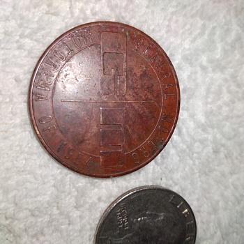 1954 GM MOTORAMA souvenir coin - Advertising