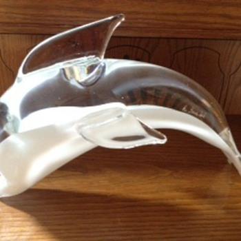 Glass Dolphin - Art Glass