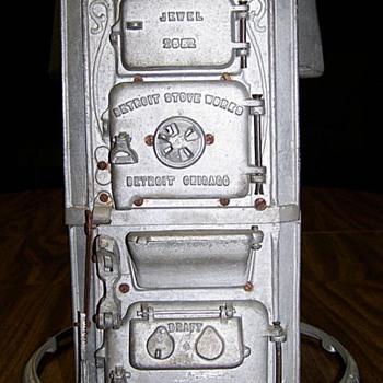 Salesman sample of a gravity hot air furnace.