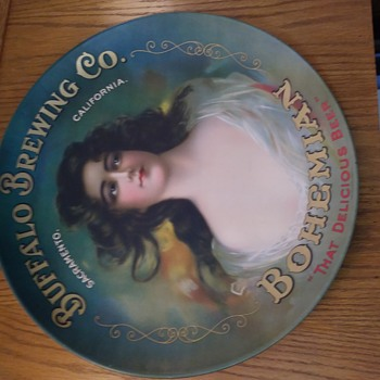 My favorite Buffalo Brewing Co out of Sacramento advertising. And Beer trays - Breweriana