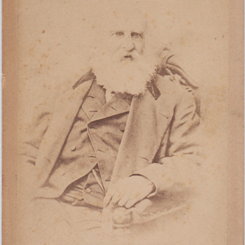 Henry W Longfellow Cabinet Card - Photographs