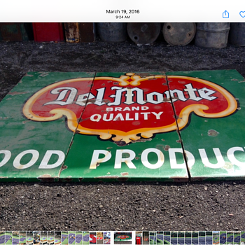 Del Monte Foods Porcelain Sign - Signs