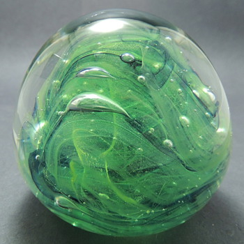 Hand Made Glass Paperweight: Kerry Glass Ireland - Office