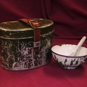 NVA Mess Tin, Rice Bowl, and Spoon - Military and Wartime