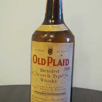 Old Plaid Whisky - Bottles
