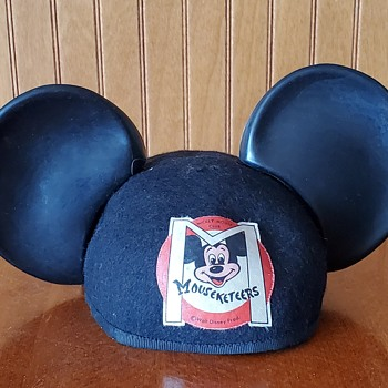 1950's Mickey Mouse Mouseketeer hat with plastic ears. - Advertising
