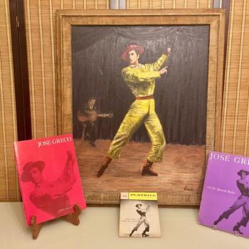 1960's Maurice Kish Oil Painting Portrait of Flamenco Dancer Jose Greco - Fine Art