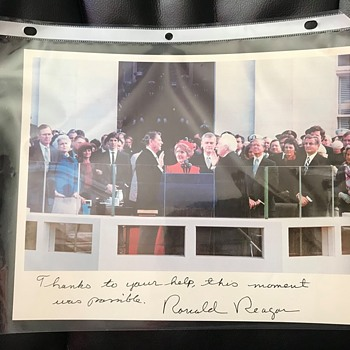 Ronald Reagan Inauguration Photograph and Letters - Photographs
