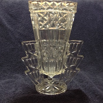 Triangle glass Vase - Art Glass