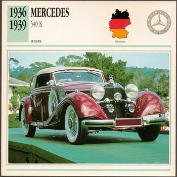 Vintage Car Card - Mercedes 540 K