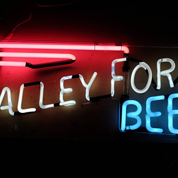 Valley Forge Beer Red, White & Blue Neon - Breweriana