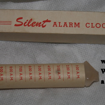 The bestest alarm clock man ever made - vintage, and hand made by someone else
