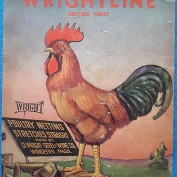 "Vintage G.F Wright ""Wrightline""advertising poster - Advertising"
