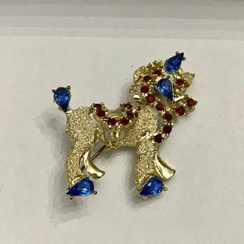 Dodds rhinestone brooch - Costume Jewelry