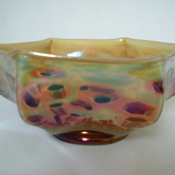 Kralik Millefiori Knuckle Bowl - Art Glass