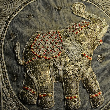 Elephant Tapestry - India? - Rugs and Textiles