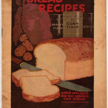 1918 - Bread Recipes (War Rationing - Canada) - Books