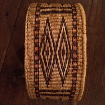 Native American Round Decorative Patterned Basket?