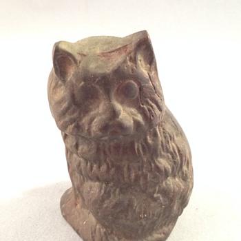 Cast Iron Cat Figurine - Figurines