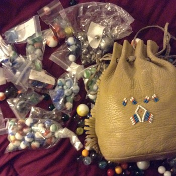 Marbles and bag from the 60's