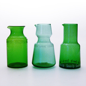 3 refreshment jugs (probably Karhula, 1960s) - Art Glass
