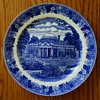 7 inch blue and white Old English Royal Staffordshire plate