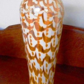 Rare Durand Zipper & Waves Vase c.1925 - Art Glass