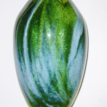 Rare Loetz Aventurin Mit Blau Vase c.1904 - Art Glass