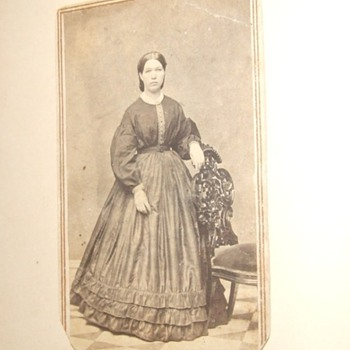 CDV of a woman with great tax stamp cancellation