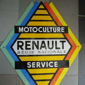 porcelain sign renault tractor - Advertising