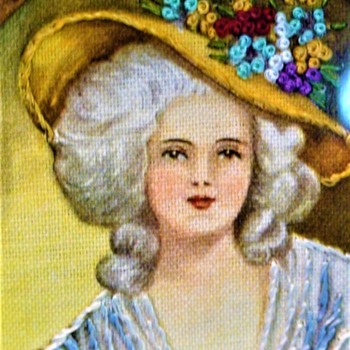 Hiawatha Needle Painting Portraits of Marie Antoinette & Elizabeth Of France  1950 - Sewing