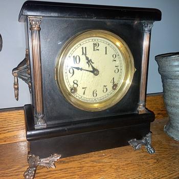 1905 - 1915 Sessions 'Ideal' model black enamel mantle clock - update - Clocks