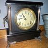1905 - 1915 Sessions 'Ideal' model black enamel mantle clock - update