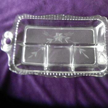 Clear Glass Relish Tray - Glassware