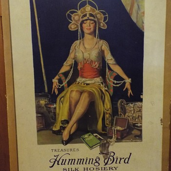 Humming Bird Silk Hosiery Store Display - Advertising