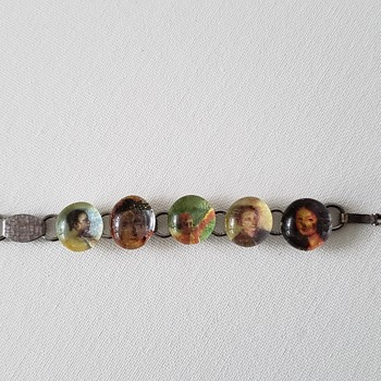 Lucite? Bracelet with Different Faces  - Costume Jewelry