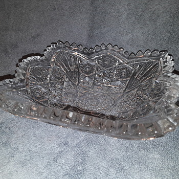 pressed glass dish/ashtray - Glassware