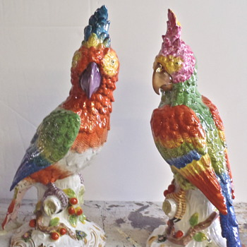 parrots  - Pottery